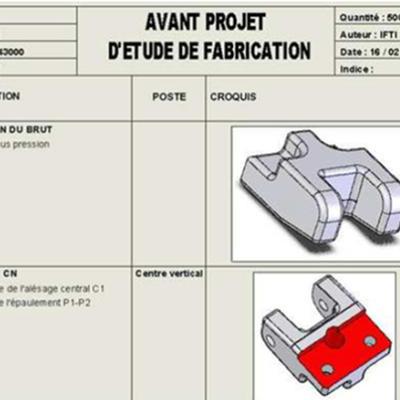 Réaliser une gamme de fabrication pour l'usinage